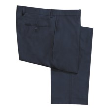 Calvin Klein Solid Gabardine Dress Pants (For Men) in Navy - Closeouts