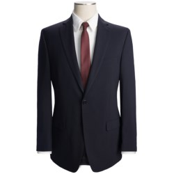 Calvin Klein Solid Wool Suit - Slim Fit (For Men) in Navy