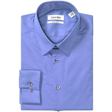 Calvin Klein Stretch Point Collar Dress Shirt - Slim Fit, Long Sleeve (For Men) in Afternoon Sky
