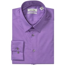 Calvin Klein Stretch Point Collar Dress Shirt - Slim Fit, Long Sleeve (For Men) in Lavender - Closeouts