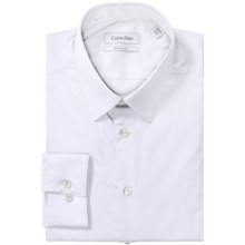 Calvin Klein Stretch Point Collar Dress Shirt - Slim Fit, Long Sleeve (For Men) in White - Closeouts