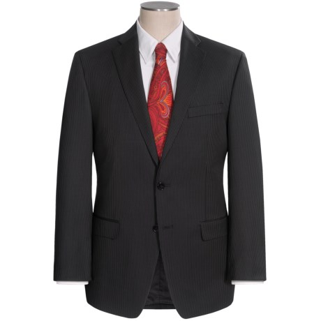 Calvin Klein Stripe Suit - Slim Fit (For Men) in Black