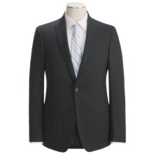 Calvin Klein Stripe Suit - Slim Fit, Wool (For Men) in Black/Red - Closeouts