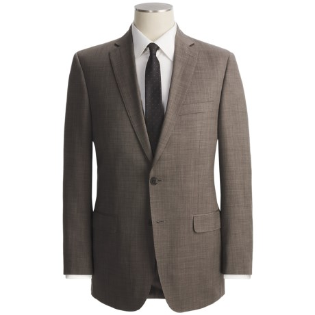 Calvin Klein Tic Weave Suit - Slim Fit, Wool (For Men) in Taupe