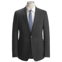 Calvin Klein Tonal Stripe Suit - Slim Fit, Wool (For Men) in Black - Closeouts
