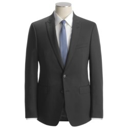 Calvin Klein Tonal Stripe Suit - Slim Fit, Wool (For Men) in Black