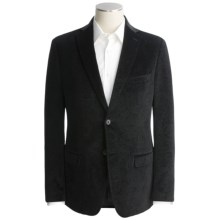 Calvin Klein Velvet Sport Coat - Slim Fit (For Men) in Black Print - Closeouts