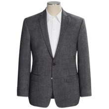Calvin Klein Wool Barley Sport Coat - Slim Fit (For Men) in Grey/Black - Closeouts
