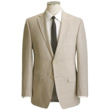 Calvin Klein Wool Blend Suit - Flat Front Pants (For Men) in Tan Mix - Closeouts