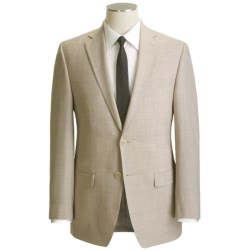 Calvin Klein Wool Blend Suit - Flat Front Pants (For Men) in Tan Mix