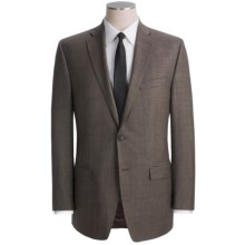 Calvin Klein Wool Sharkskin Suit - Modern Fit (For Men) in Brown - Closeouts