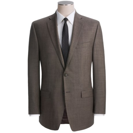 Calvin Klein Wool Sharkskin Suit - Modern Fit (For Men) in Light Grey