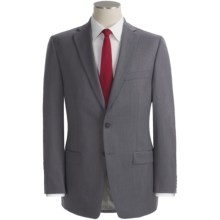 Calvin Klein Wool Suit - Slim Fit (For Men) in Light Grey - Closeouts
