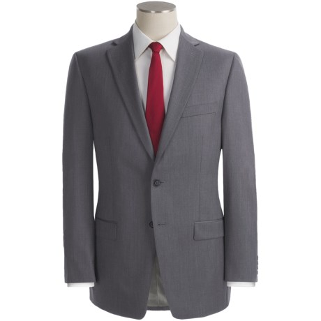 Calvin Klein Wool Suit - Slim Fit (For Men) in Light Grey