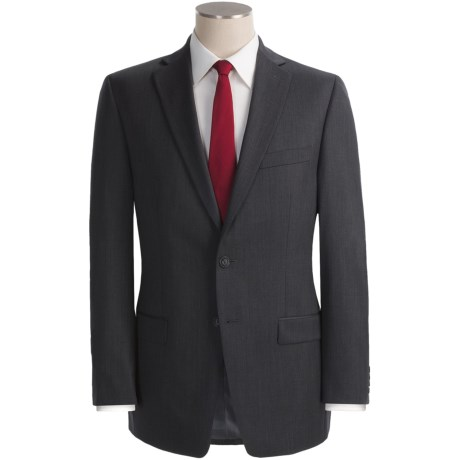 Calvin Klein Wool Suit - Slim Fit (For Men) in Black