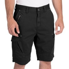 Calvin Klein Zip Detail Cargo Shorts (For Men) in Black - Closeouts