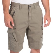 Calvin Klein Zip Detail Cargo Shorts (For Men) in Rosemary - Closeouts