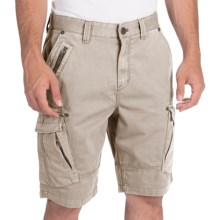 Calvin Klein Zip Detail Cargo Shorts (For Men) in Sandstorm - Closeouts