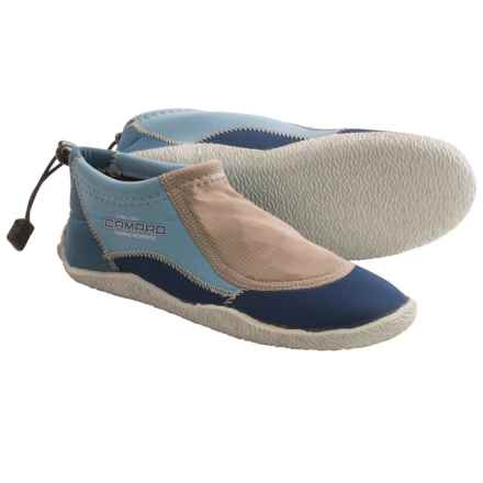 Camaro 3mm Coral Sea Aqua Slipper Shoes in Blue - Closeouts
