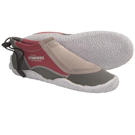 Camaro 3mm Coral Sea Aqua Slipper Shoes in Flame Orange