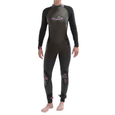 Camaro 4/3 mm Wetsuit - Semi-Dry (For Women) in Black - Closeouts