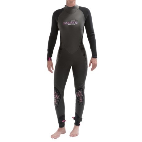 Camaro 4/3 mm Wetsuit - Semi-Dry (For Women) in Black