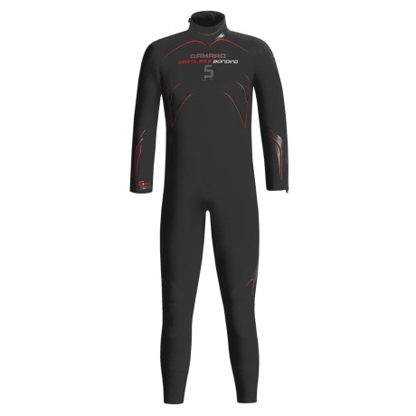 Camaro 5mm Seamless Dive Wetsuit - Semi-Dry (For Men) in Black / Red