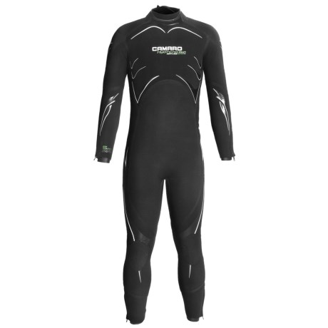 Camaro 5mm Seamless Dive Wetsuit - Semi-Dry (For Men) in Black/White/Green