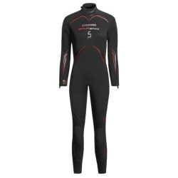 Camaro 5mm Seamless Diving Wetsuit - Semi-Dry (For Women) in Black/White/Green