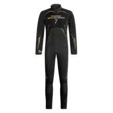Camaro 7mm Seamless Diving Wetsuit - Semi-Dry  (For Men) in Black/Yellow - Closeouts