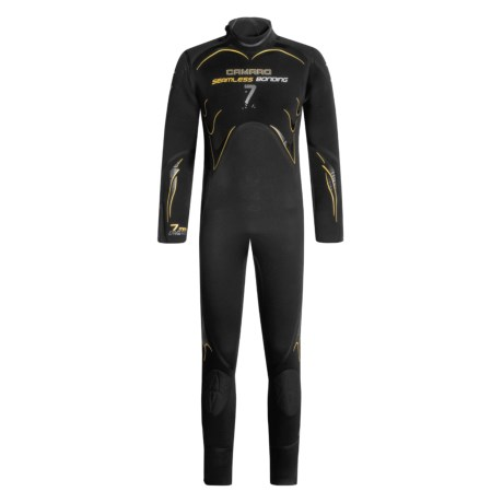 Camaro 7mm Seamless Diving Wetsuit - Semi-Dry  (For Men) in Black/White/Grey