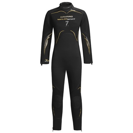 Camaro 7mm Seamless Diving Wetsuit - Semi-Dry (For Women) in Black/Yellow