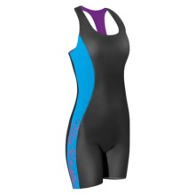 Camaro Aquaskin Wavesuit Wetsuit - Built-In Bra (For Women) in Black/Blue/Pink - Closeouts
