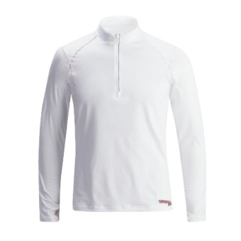 Camaro BFT Rash Guard Shirt - Zip Neck, Long Sleeve (For Men) in White