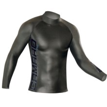 Camaro Blacktec Competition Rash Guard - Long Sleeve (For Men and Women) in Black / Blue - Closeouts