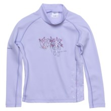 Camaro Curls Rash Guard Shirt - UPF 50+, Long Sleeve (For Girls) in Light Purple - Closeouts