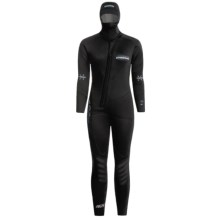 Camaro Hydronomic 7mm Wetsuit (For Women) in Black W/Blue Logo - Closeouts