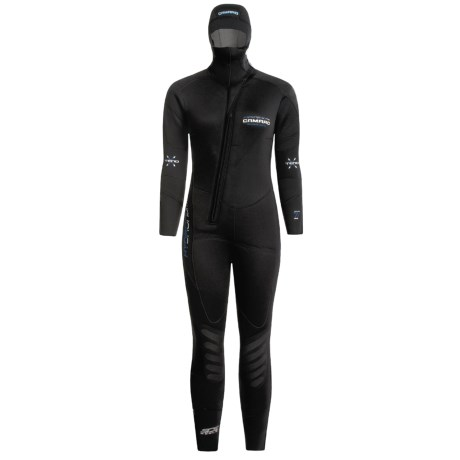 Camaro Hydronomic 7mm Wetsuit (For Women) in Black W/Blue Logo