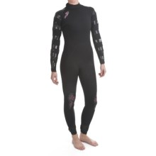 Camaro Ice Tec Semi-Overall Surfing Wetsuit - Dry 5/4mm (For Women) in Black/Fuchsia - Closeouts