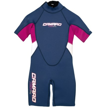 26a7b76fe Camaro Junior Pro Flex Shorty Wetsuit (For Girls) in Blue Pink