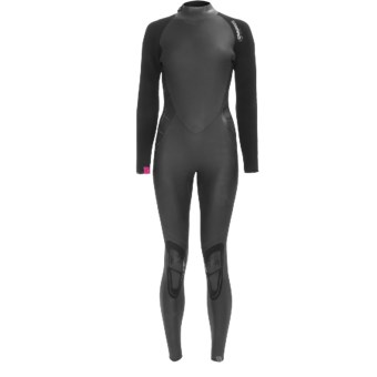 Camaro Lipstick Wetsuit - 4/3/2mm (For Women) in Black