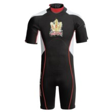 Camaro Mono Mundaka Shorty Wetsuit - 3mm (For Men) in Red - Closeouts