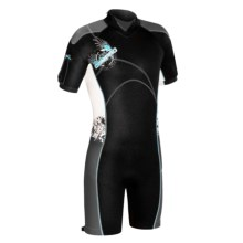 Camaro Mono Mundaka Shorty Wetsuit - 3mm (For Men) in Turquoise - Closeouts