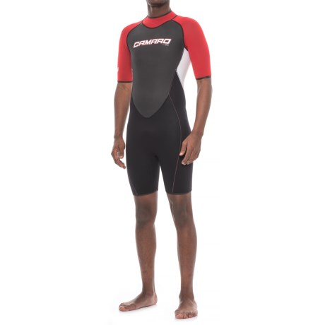 Camaro Mono Revo Flex Shorty Wetsuit - 2mm (For Men) in Red bb694994f