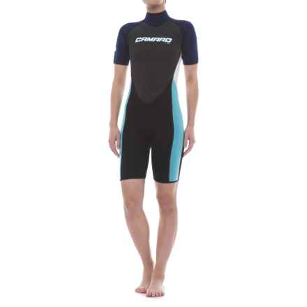 Camaro Mono Revo Flex Shorty Wetsuit - 2mm (For Women) in Blue - Closeouts