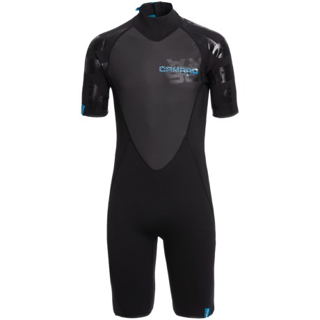 Camaro Mono Supra Surfing Shorty Wetsuit - 2mm (For Men) in Titamium