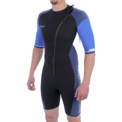 Camaro Mono Voltage Shorty Wetsuit - 3 mm (For Men) in Black/Blue/Navy/White