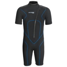 Camaro Mono Voltage Shorty Wetsuit - 3 mm (For Men) in Black/Blue - Closeouts