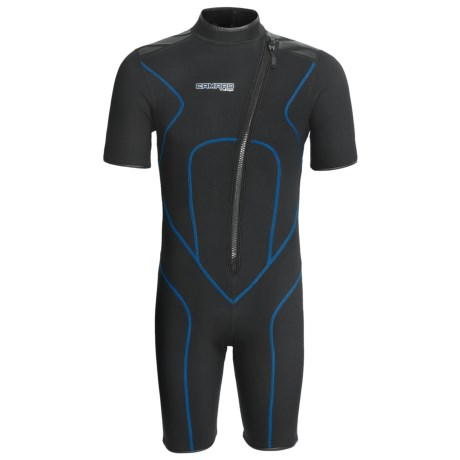 Camaro Mono Voltage Shorty Wetsuit - 3 mm (For Men) in Black/Dark Grey/Blue