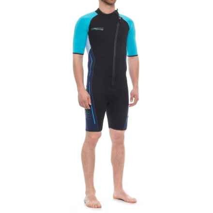 Camaro Mono Voltage Shorty Wetsuit - 3mm (For Men) in Black/Blue - Closeouts
